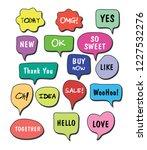 vector bubbles speech set. hand ... | Shutterstock .eps vector #1227532276