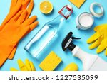 flat lay composition with... | Shutterstock . vector #1227535099