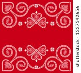 folklore floral nordic...   Shutterstock .eps vector #1227542656