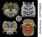 set gothic and aggressive... | Shutterstock .eps vector #1227548623