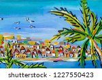 details of acrylic paintings... | Shutterstock . vector #1227550423