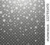christmas snow. falling... | Shutterstock .eps vector #1227551470