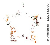 musical signs. modern...   Shutterstock .eps vector #1227552700