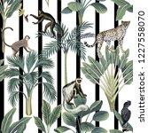tropical vintage wild animals ... | Shutterstock .eps vector #1227558070