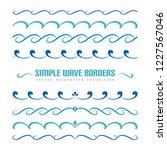vector waves  set of wavy... | Shutterstock .eps vector #1227567046