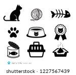 cat accessories set. animal...   Shutterstock .eps vector #1227567439