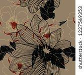 beautiful seamless floral... | Shutterstock .eps vector #1227569353