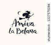 hand written italian lettering... | Shutterstock .eps vector #1227570286