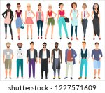 young stylish fashion vector... | Shutterstock .eps vector #1227571609