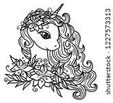 vector cute unicorn cartoon and ... | Shutterstock .eps vector #1227573313