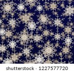 2d illustration. snowflakes on... | Shutterstock . vector #1227577720