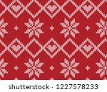 winter holiday seamless knitted ... | Shutterstock .eps vector #1227578233