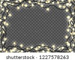 border template with realistic... | Shutterstock .eps vector #1227578263