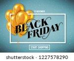 banner for black friday sale... | Shutterstock .eps vector #1227578290