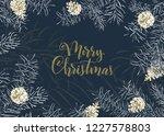 christmas sketch hand drawn... | Shutterstock .eps vector #1227578803