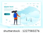 vector illustration    winter... | Shutterstock .eps vector #1227583276