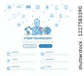 cyber technology concept  ai... | Shutterstock .eps vector #1227583390