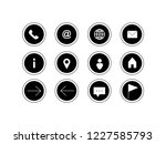 web and contact icons | Shutterstock .eps vector #1227585793