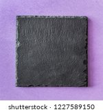 black square stone plate on... | Shutterstock . vector #1227589150