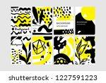 set of creative universal... | Shutterstock .eps vector #1227591223