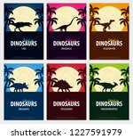 posters collection world of... | Shutterstock .eps vector #1227591979