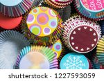 colorful cupcakes paper... | Shutterstock . vector #1227593059