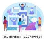 people using social media ... | Shutterstock .eps vector #1227599599