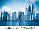 development of shanghai pudong... | Shutterstock . vector #122760046