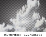 fog or smoke  clouds isolated... | Shutterstock .eps vector #1227606973