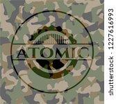 atomic on camo pattern   Shutterstock .eps vector #1227616993