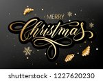lettering merry christmas and... | Shutterstock . vector #1227620230