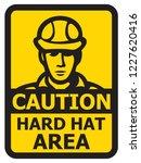 caution hard hat area vector... | Shutterstock .eps vector #1227620416
