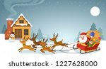 merry christmas and happy new... | Shutterstock .eps vector #1227628000
