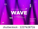 3d distorted wave lines....   Shutterstock .eps vector #1227628726