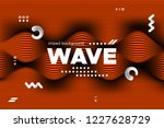 3d poster with wave stripes....   Shutterstock .eps vector #1227628729