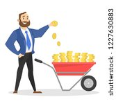 hapyy businessman standing with ... | Shutterstock .eps vector #1227630883
