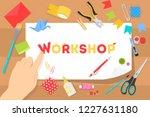 workshop concept. idea of... | Shutterstock .eps vector #1227631180