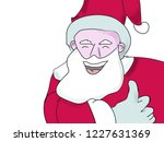 santa claus gestures and smiles ... | Shutterstock . vector #1227631369