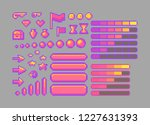 pixel art bright icons. vector...