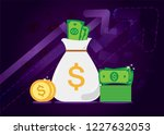 new pile of cash. profit ... | Shutterstock .eps vector #1227632053