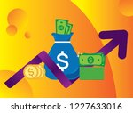 new pile of cash. profit ... | Shutterstock .eps vector #1227633016