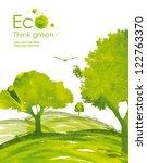 illustration environmentally... | Shutterstock . vector #122763370