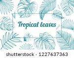 tropical invitation card.... | Shutterstock .eps vector #1227637363