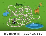 help the little hippo to find... | Shutterstock . vector #1227637666
