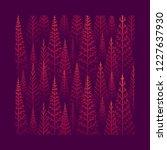 vector pine tree forest... | Shutterstock .eps vector #1227637930