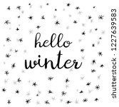 hello winter. white winter... | Shutterstock .eps vector #1227639583