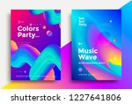 music wave and colors party... | Shutterstock .eps vector #1227641806