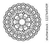 flower mandala illustration.... | Shutterstock . vector #1227645439
