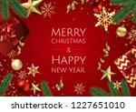 banner with vector christmas... | Shutterstock .eps vector #1227651010