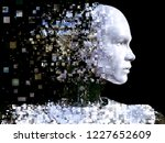 3d rendering of the head of a... | Shutterstock . vector #1227652609